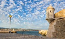 Οχυρό DA Bandeira Ponta, Λάγκος, Πορτογαλία στοκ εικόνα
