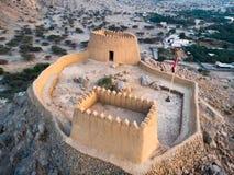 Οχυρό Dhayah στο εμιράτο βόρειου Ras Khaimah στην κεραία Ε.Α.Ε. στοκ φωτογραφίες με δικαίωμα ελεύθερης χρήσης