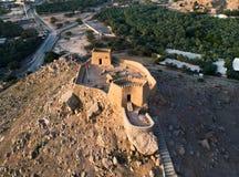 Οχυρό Dhayah στο εμιράτο βόρειου Ras Khaimah στην κεραία Ε.Α.Ε. στοκ εικόνες