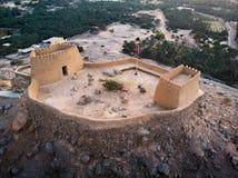 Οχυρό Dhayah στο εμιράτο βόρειου Ras Khaimah στην κεραία Ε.Α.Ε. στοκ εικόνα με δικαίωμα ελεύθερης χρήσης