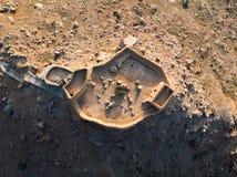 Οχυρό Dhayah στο εμιράτο Ras Khaimah κατά την εναέρια άποψη Ε.Α.Ε. στοκ εικόνες με δικαίωμα ελεύθερης χρήσης