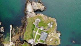 Οχυρό Dunree στην Ιρλανδία άνωθεν - εναέρια άποψη κηφήνων απόθεμα βίντεο
