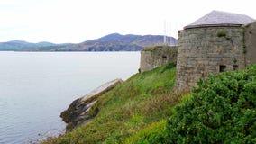 Οχυρό Dunree στην ιρλανδική δυτική ακτή απόθεμα βίντεο