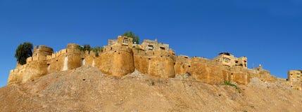 ΟχυρόJaisalmer- αρχαίο κίτρινο φρούριο πετρών, Ινδία στοκ εικόνα