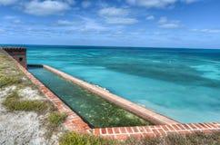 Οχυρό Jefferson στο ξηρό εθνικό πάρκο Tortugas στοκ εικόνα με δικαίωμα ελεύθερης χρήσης