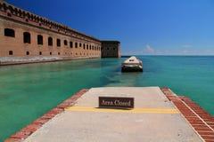 Οχυρό Jefferson στο ξηρό εθνικό πάρκο Tortugas, Florida Keys στοκ εικόνες
