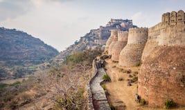 Οχυρό Kumbhalgarh στο Rajasthan στοκ φωτογραφία