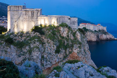 Οχυρό Lovrijenac τη νύχτα dubrovnik Κροατία Στοκ Εικόνες