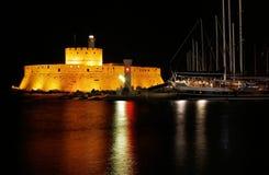 Οχυρό Mandraki, Ρόδος, Ελλάδα στοκ εικόνες με δικαίωμα ελεύθερης χρήσης