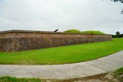 Οχυρό Moultrie στο Τσάρλεστον, νότια Καρολίνα Στοκ Φωτογραφία