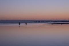 Οχυρό Myers Φλώριδα ηλιοβασιλέματος παραλιών Bunche στοκ φωτογραφίες
