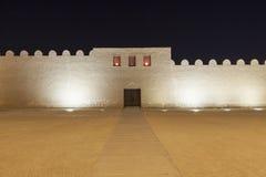 Οχυρό Riffa τη νύχτα, βασίλειο του Μπαχρέιν Στοκ Εικόνες