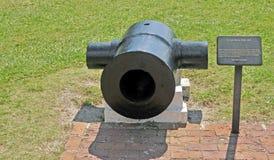 Οχυρό Sumter: κονίαμα 10 ίντσας Στοκ Φωτογραφίες
