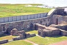 Οχυρό Sumter: Τέταρτα ανώτερων υπαλλήλων ` s & περιοδικό σκονών στοκ φωτογραφία με δικαίωμα ελεύθερης χρήσης