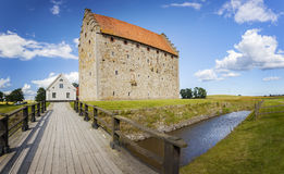 Οχύρωση Σουηδία Glimmingehus Στοκ Φωτογραφία