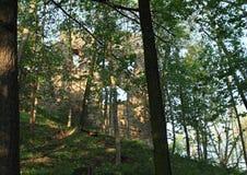 Οχύρωση του κάστρου Zebrak Στοκ εικόνες με δικαίωμα ελεύθερης χρήσης