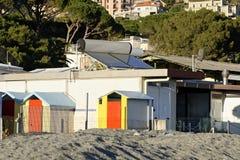 λούσιμο του κιβωτίου στην παραλία arenzano Στοκ φωτογραφία με δικαίωμα ελεύθερης χρήσης