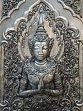 Ο άγγελος φυλάκων στον τοίχο ναών στοκ εικόνες