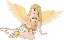 ο άγγελος χρυσός αυξήθη& Στοκ Φωτογραφίες