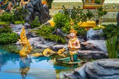 ο άγγελος Kinnaree Θεών και τα ζώα στη λογοτεχνία κολυμπούν Στοκ εικόνες με δικαίωμα ελεύθερης χρήσης