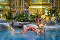 ο άγγελος Kinnaree Θεών και τα ζώα στη λογοτεχνία κολυμπούν Στοκ Εικόνα