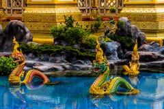 ο άγγελος Kinnaree Θεών και τα ζώα στη λογοτεχνία κολυμπούν Στοκ Φωτογραφίες