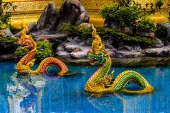 ο άγγελος Kinnaree Θεών και τα ζώα στη λογοτεχνία κολυμπούν Στοκ φωτογραφία με δικαίωμα ελεύθερης χρήσης