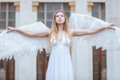 Ο άγγελος διέδωσε τα φτερά της Στοκ φωτογραφίες με δικαίωμα ελεύθερης χρήσης