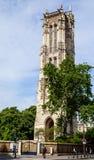 Ο Άγιος Ζακ Tower στο κέντρο του Παρισιού Στοκ εικόνα με δικαίωμα ελεύθερης χρήσης