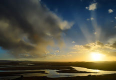Ο άνεμος ποταμός Στοκ Εικόνες