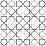 Ο άνευ ραφής Μαύρος - άσπρη γεωμετρική περίληψη σχεδίων Στοκ Εικόνες