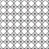 Ο άνευ ραφής Μαύρος - άσπρη γεωμετρική περίληψη σχεδίων Στοκ Φωτογραφία