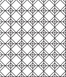 Ο άνευ ραφής Μαύρος - άσπρη γεωμετρική περίληψη σχεδίων Στοκ εικόνες με δικαίωμα ελεύθερης χρήσης