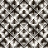 Ο άνευ ραφής Μαύρος - άσπρο γεωμετρικό σχέδιο Στοκ Εικόνες