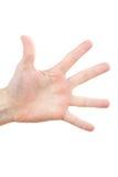 ο άνθρωπος χεριών Στοκ εικόνα με δικαίωμα ελεύθερης χρήσης