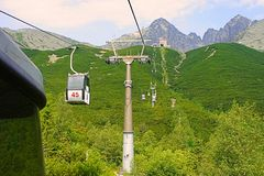 Ο άνοδος στα βουνά Tatra στοκ εικόνα με δικαίωμα ελεύθερης χρήσης