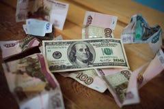 δολάρια εκατό ένα Στοκ εικόνα με δικαίωμα ελεύθερης χρήσης