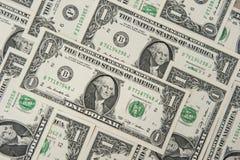 δολάριο λογαριασμών ένα Στοκ Εικόνα