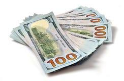 δολάριο λογαριασμών εκατό στοίβες Στοκ εικόνα με δικαίωμα ελεύθερης χρήσης