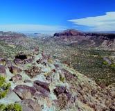 Ο άσπρος βράχος αγνοεί - κοιλάδα του Rio Grande, Νέο Μεξικό Στοκ Εικόνες