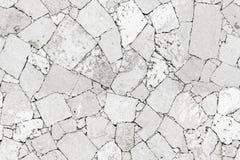 Ο άσπρος τοίχος πετρών απαρίθμησε την άνευ ραφής σύσταση υποβάθρου Στοκ Εικόνα