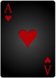 Ο άσσος θερμαίνει το πόκερ καρτών Στοκ Φωτογραφίες