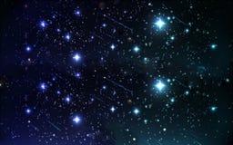 Ο έναστρος ουρανός νύχτας Στοκ εικόνα με δικαίωμα ελεύθερης χρήσης