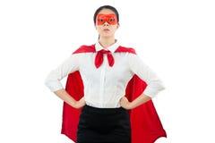 Ο έξοχος θηλυκός ήρωας δικηγόρων υπερασπίζει όλη την οικογένεια πελατών στοκ εικόνες