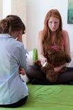 Ο έφηβος ομολογεί στην εγκυμοσύνη Στοκ Εικόνες