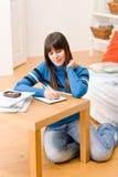 ο έφηβος σπουδαστών βασ&iot Στοκ Εικόνα