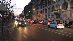 Οδήγηση αυτοκινήτων στο δρόμο Γενεύη φιλμ μικρού μήκους
