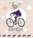 Οδήγηση λιονταριών Hipster με το ποδήλατο Στοκ φωτογραφία με δικαίωμα ελεύθερης χρήσης