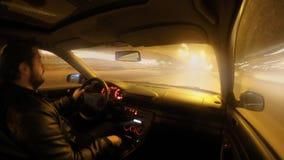 Οδήγηση νύχτας απόθεμα βίντεο