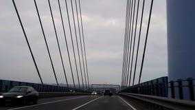 Οδήγηση πέρα από τη γέφυρα RÃ ¼ GEN στη Γερμανία Στοκ φωτογραφία με δικαίωμα ελεύθερης χρήσης